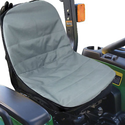 Waterproof Fabric Tractor Seat Cover Storage Pockets Breathable Replacement Part