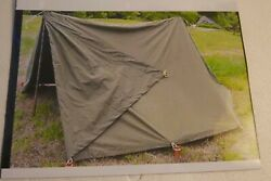 Vintage Canvass Tent Nos Us Military Army Pup Tent Minty