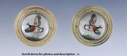 Incredible And Co 14k Gold Cooks Crystal Pheasant Game Bird Motif Earrings