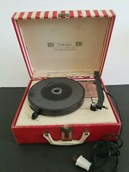 Vintage Turntable Silvertone Stereo Compatible Record Player Original