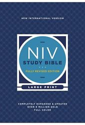Niv Study Bible/large Print Fully Revised Edition Comfort Print-hardcover