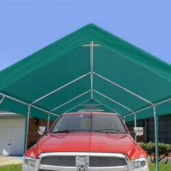 Peakop Outdoor 10x20ft Heavy Duty Storage Carport Shed Garage Canopy Car Shelter