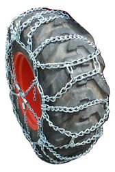 Tirechain.com 15-19.5, 15 19.5 Duo Ladder Tractor Tire Chains Set Of 2