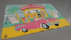 Vintage Chatham Blanket 1957 Chevy Chevrolet 1950and039s Rock N Roll Diner Beach Surf