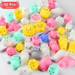 Squishy Toys Party Favors For Kids - Squishys 42 Pack Mini Mochi Squishies,