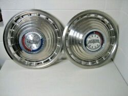 1963 Ford Galaxie 500 14 Hubcaps Vintage 2 Each