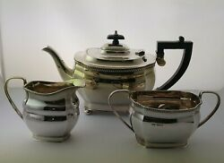Immaculate 3pc Solid Silver Tea Set 1188g - Sheff. 1978