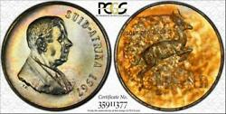 1967 South Africa 1 Rand Pcgs Pr65 Multi Color Toned Pop 5 Only 6 Graded Higher