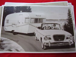 1959 Studebaker Lark Convertible A Nomad Travel Trailer 11 X 17 Photo Picture