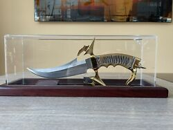 Gil Hibben The Odyssey - Gold Edition In Display Uc1116 Blade Length 7 3/4andrdquo