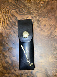 NEW Leatherman Black Leather Sheath **Case ONLY** For Multi Tool NEW old Stock $17.95