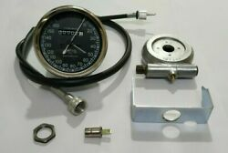 Smiths Replica 160 Kmh Speedo Black + Drive And 64 Inches Cable For Classic Bikes