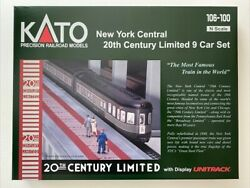 Kato 106-100 New York Central 20th Century Limted 9 Car Set N Scale