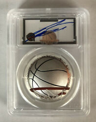 Dominique Wilkins 2020p Basketball Hall Fame Silver 1 Dollar Pcgs Proof Private