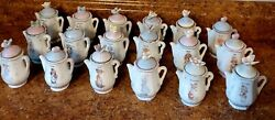 Precious Moments Spice Jars Lot Of Eighteen Teapots With Lids