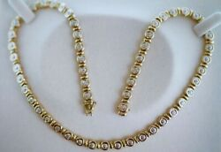 Vintage Jewelry Yellow Gold Necklace Set With Natural Diamond Antique Jewellery