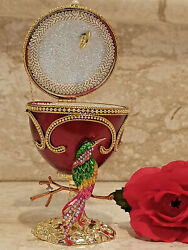 Faberge Egg Musical Jewelry Box Gift And Her Ruby Bracelet 24k Bday Birthday Women