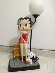 Extremely Rare Betty Boop With Pudgy Traveling Big Figurine Lamp Statue