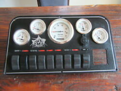 Shamrock Inboard Gauge And Switch Panel Domed Face