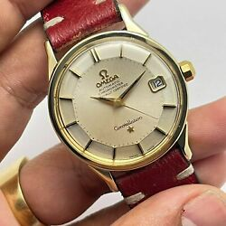 Vintage 1966 Omega Constellation 168.005 Pink Gold Top Auto Manand039s Watch Rare