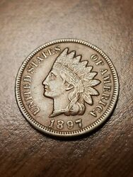 1897 Indian Head Cent Penny Full Liberty