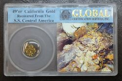 49'er California Gold Recovered From Ss Central America Global Certified In Case