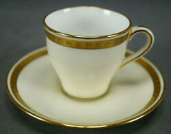 Minton And Co H2726 Gold Encrusted Demitasse Cup And Saucer Circa 1902-1911
