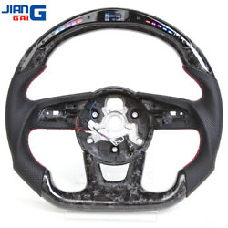 Led/lcd Forged Carbon Fiber Steering Wheel Fit For Audi S3 S4 S5 Rs3 Rs4 Rs5