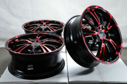 17 Wheels Fit Kia Soul Ford Mustang Civic Accord Corolla Camry Black Red Rims