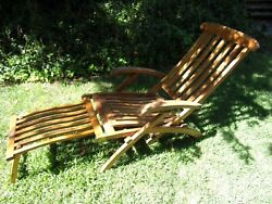Vintage Queen Mary First Class Folding Deck Chair White Star Lines Cunard