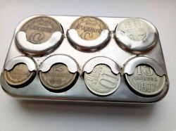 Rare Vintage Ussr Soviet Russian Coin Box With Soviet Coins
