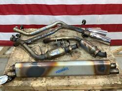 01-02 Chrysler Plymouth 3.5l Oem Exhaust W/ Downpipes To Rear Tips