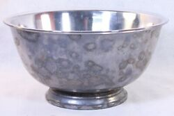 Paul Revere Reproduction 10 In. Oneida Silversmiths Silverplate Bowl W/liner Usa