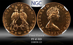 1971 Isle Of Mann 2 New Pence Ngc Pf65rd Proof Finest Known Worldwide