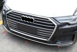 For Audi A6 C8 2019 2020 2021 Stainless Steel Front Bumper Cover Trim