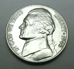 1943 D Jefferson 35 Silver Nickel Ag Or Better Free Shipping