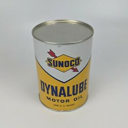 Sunoco Dynalube Sae 10w Hd 1 Quart Oil Can 1960 - Full Nos Vintage Usa 5