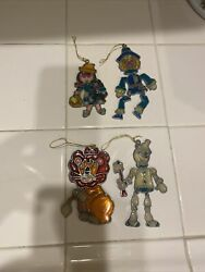 Wizard Of Oz Rare Stained Glass Ornaments Kurt Adler 1979