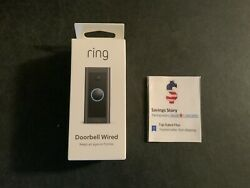 Ring Video Doorbell Wired - Black- 1080p Hd - New And Sealed Alexa