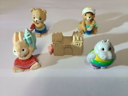 1993 Hallmark Lot Of 5 Beach Animals And Sandcastle With Gold Seals