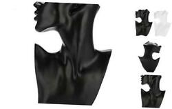 Necklace Earring Mannequin Head Holder Bust Stand Model 112.87.7 Inch Black