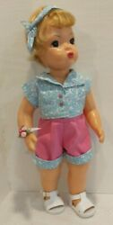 4 Pc Summer Breeze Shorts Top Head Band Wrist Corsage For 16 Terri Lee Doll