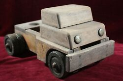 Vintage Antique Wooden Toy Truck Semi Cab Rubber Wheels Dually Charismatic
