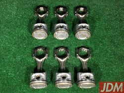 Toyota 2jzgte Connecting Rods And Pistons = Aristo / Supra 13201-46040 13101-46091