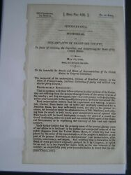 Government Report 1834 Bradford County Pa Restoring Public Deposits Bank Of Us