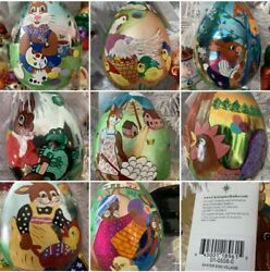 8 Eggs In Set Radko Easter Egg Village Hand Painted Ornaments 01-0558-0 Nwt 5