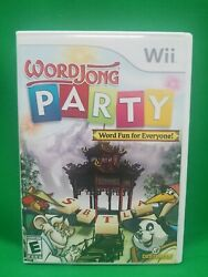 Word Jong Party for Nintendo Wii WII Strategy Puzzle Video Game $3.50