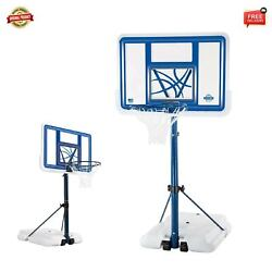 Lifetime 44 Inch Pool Side Height Adjustable Portable Basketball System
