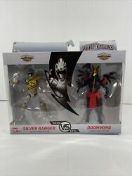 2018 Power Rangers Silver Ranger Dino Super Charge And Doomwing Action Figure Set