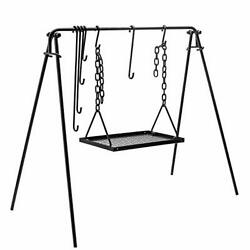 Grill Swing Campfire Cooking Stand Bbq For Cookware And Dutch Oven Adjustable